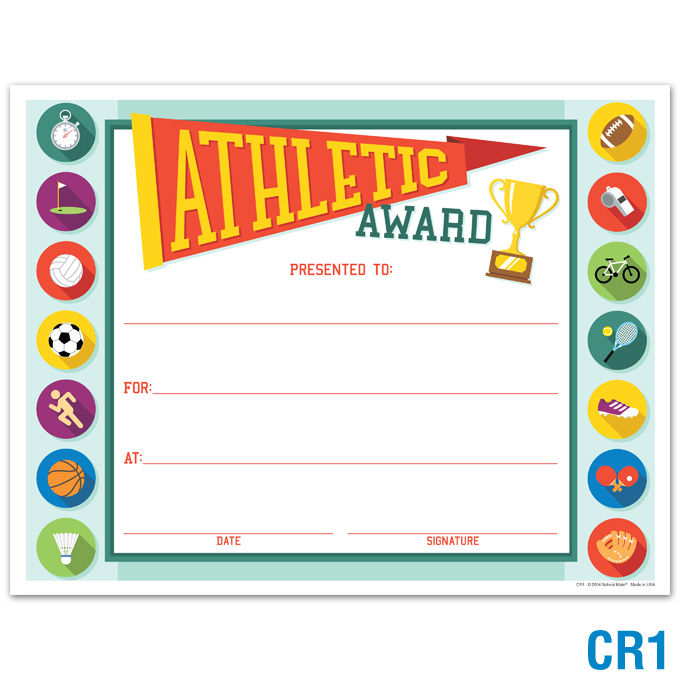 product details athletic award certificates awards