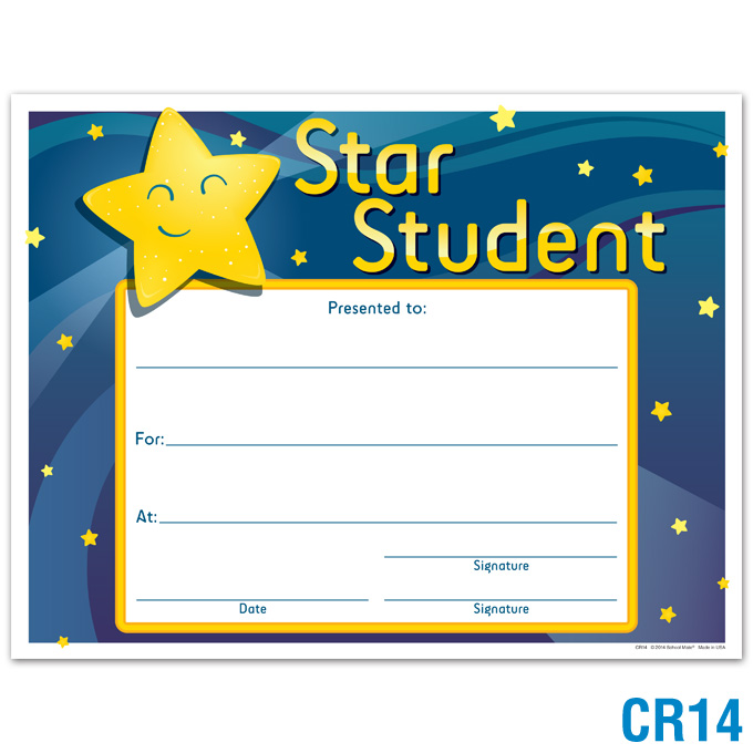 product details star student award certificates awards