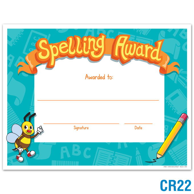 Product Details | Spelling Award | Certificates | Awards ...