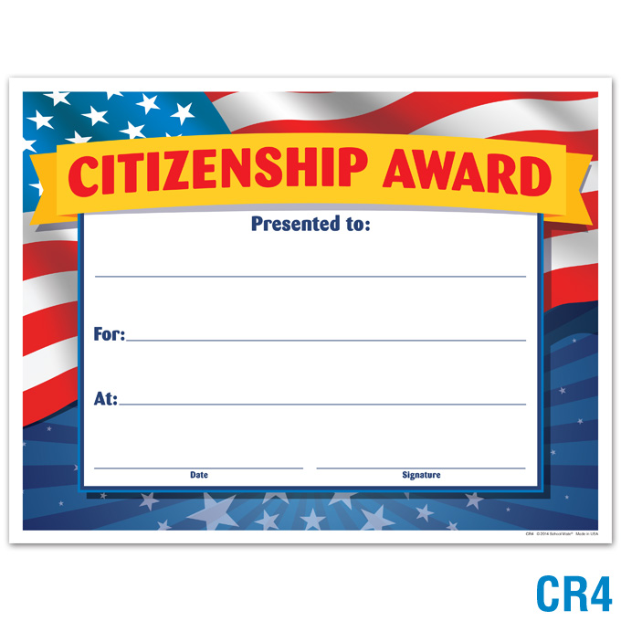 Product Details Citizenship Award Certificates Awards