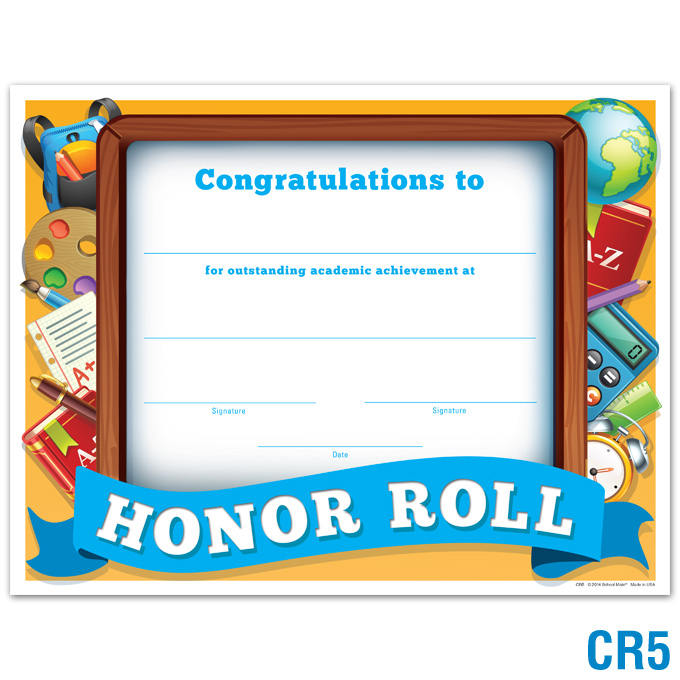 Product details honor roll certificate certificates awards honor roll certificate click to enlarge yadclub Gallery