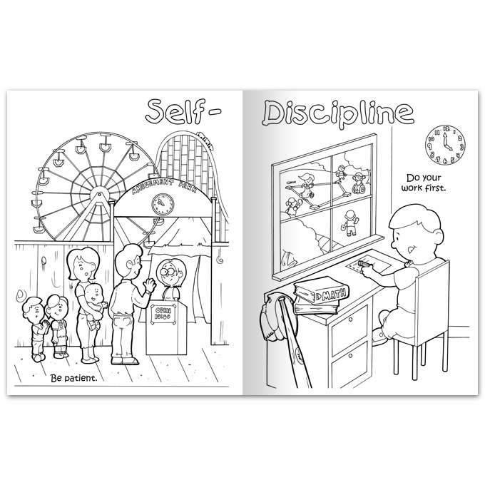 free self discipline coloring pages - photo#4