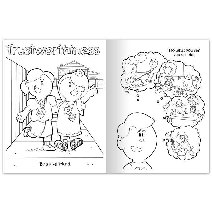 Character Education Responsibility Coloring Pages