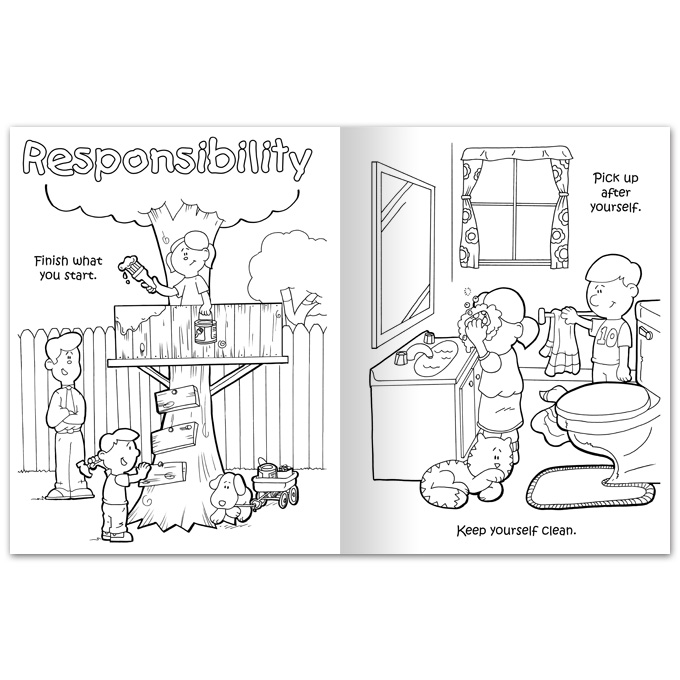 Character Ed Coloring Book