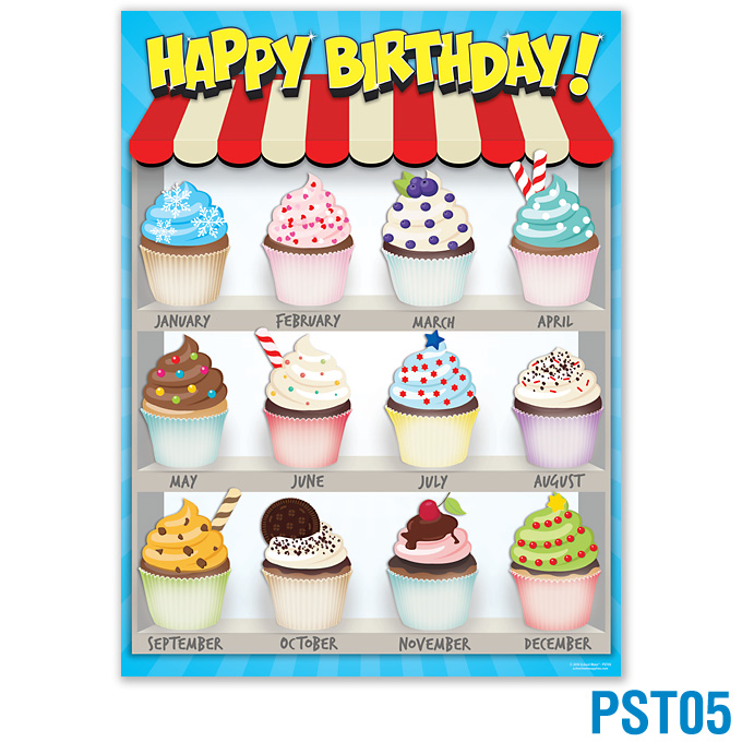 Product Details Happy Birthday Chart Classroom Posters Charts